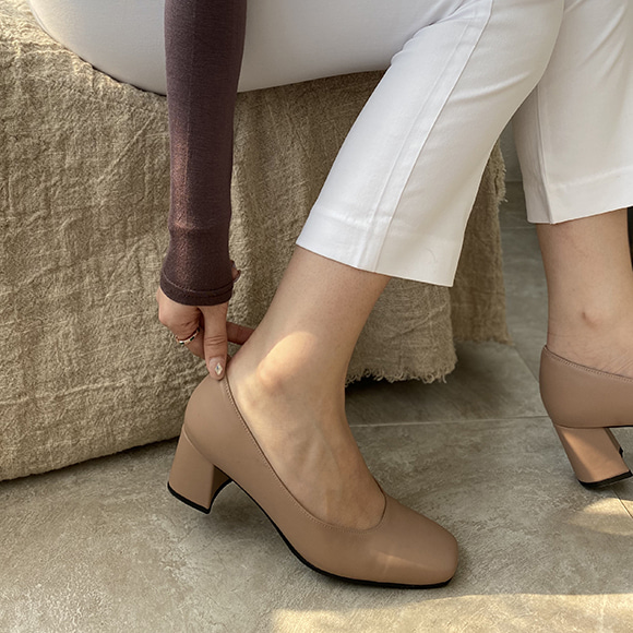 Olivia Square Heel_H1601_BE