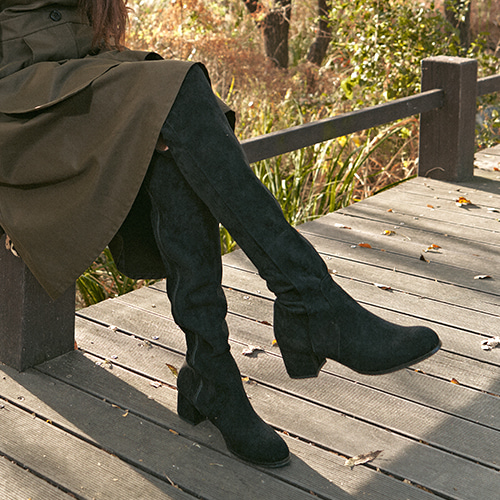 Jacquellne Middle Heel Long Boots_B5020_SBK